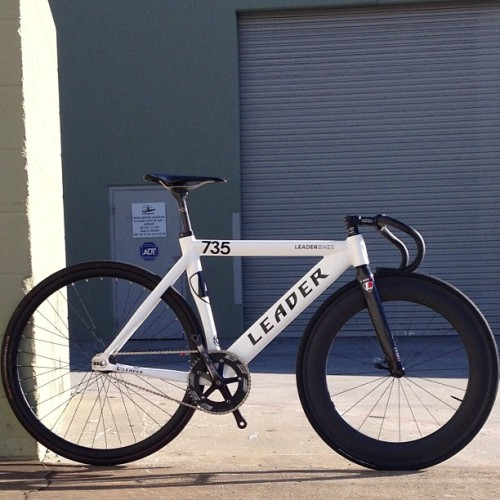 emibrown:  New Leader Frame built up and ready to go! See you guys soon! #Seoul,South Korea #Tokyo, Japan (Taken with Instagram at Leader Bikes)