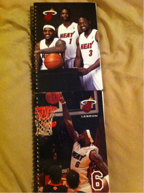 Copped some Miami Heat notebooks for my son so he can start practicing his writing. Keep journals, write stories, or just creative writing and hopefully it leads to him becoming a better writer for when he is older.