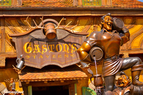 the statue that Gaston humbly presented to his village in honor of….himself.