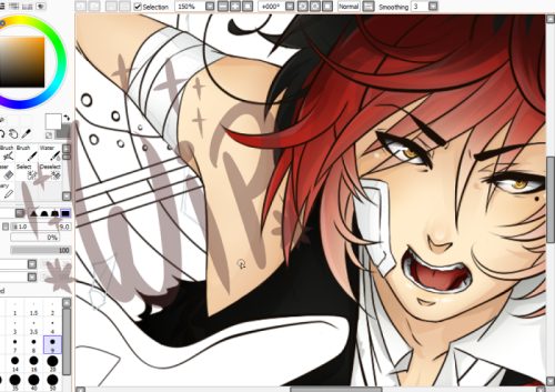 COLLAB WIP! Lines by nekodoru and colouring by KaiSuki Can you guess what song it's for? <3