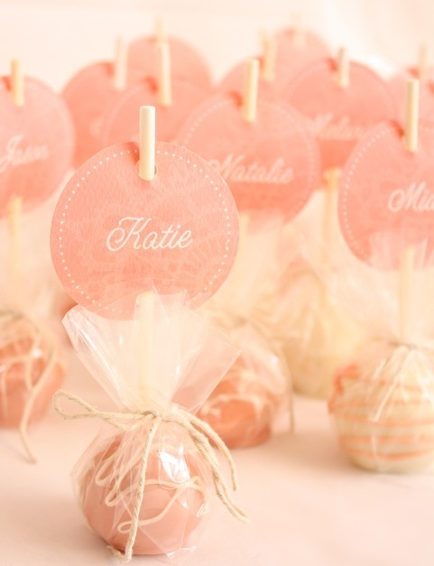 Cake pop place markers