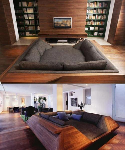 rosietheriveter01:  pile-of-fail:  ivyinspace:  The perfect cuddling couch.  That is not a couch. That is a nest, and I want one.  This is made for my life.
