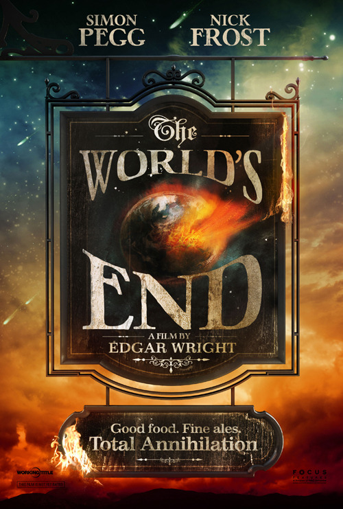 Teaser Poster For Edgar Wright's 'The World's End'