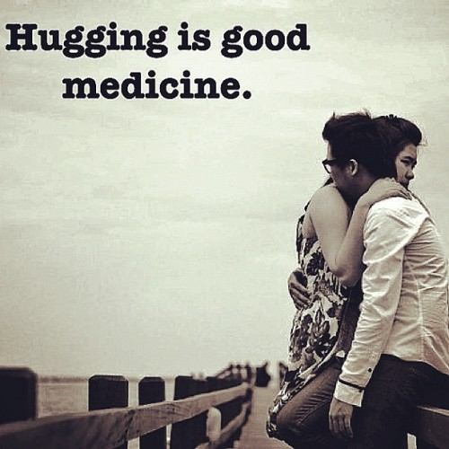 Hugging is good medicine. (Taken with Instagram)