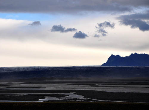 Dramatic sky and mountains on Iceland by ystenes on Flickr.