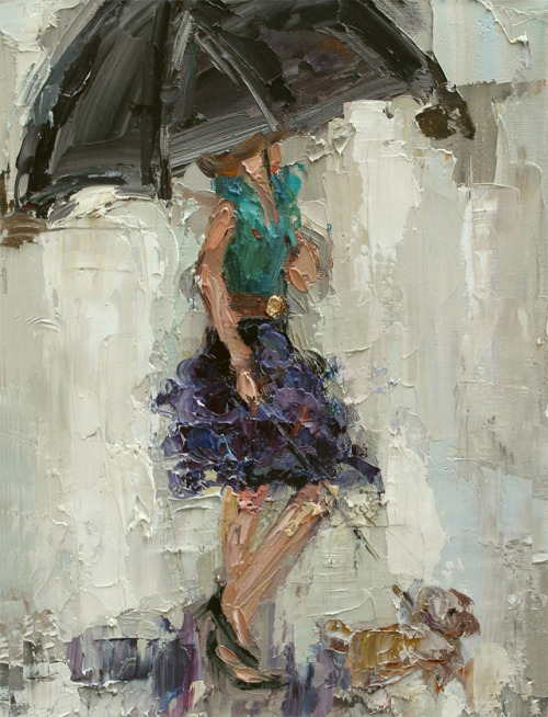 art-and-dream:   rainy day by Kathryn Morris Trotter