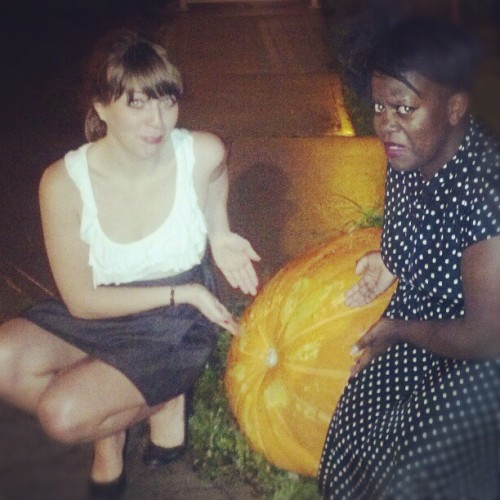 That is a really big pumpkin. WHAT IS GOING ON? (Taken with Instagram at Biltmore Cabaret)