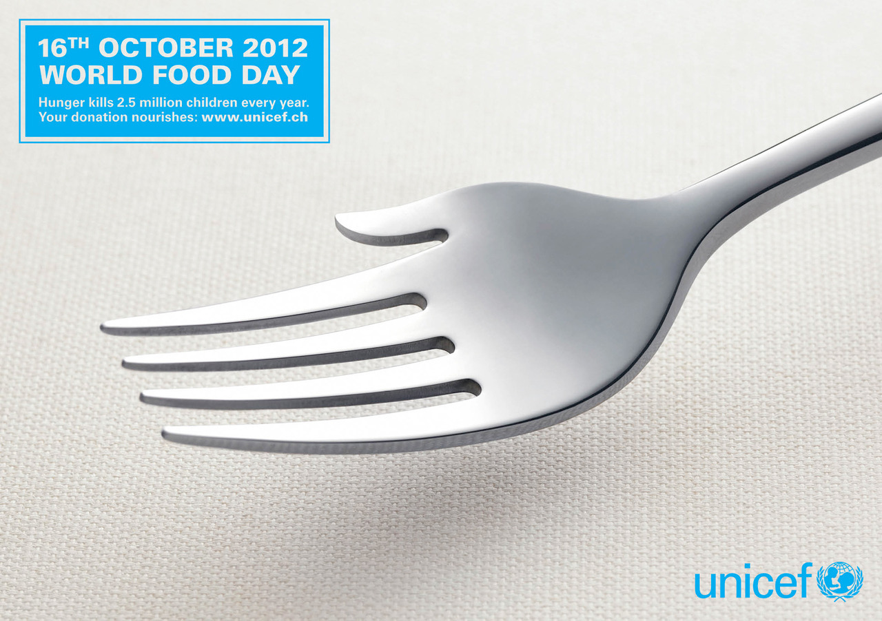 Unicef: World food day  Agency: Saatch & Saatchi, Switzerland
