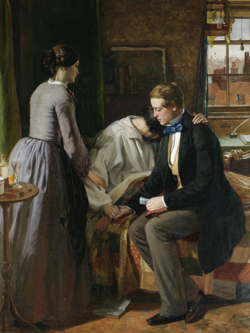 monsieurleprince:  Alfred Rankley (1819 - 1872) - Old schoolfellows A friend loveth at all times and a brother is born for adversity