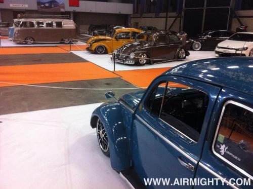 Four UDB rides (Marco's Jeans bug, Michiel's oval, Richards oval ragtop and B's Deluxe Split) represent at the '100% Tuning' show in the AHOY Rotterdam [NL]. Looking sharp guys!!