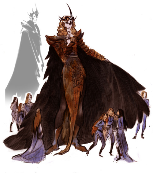 Melkor,Sauron and the first elves >:3