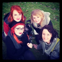 Me and the girls at Nottingham beer festival yesterday, it was sooo cold!!