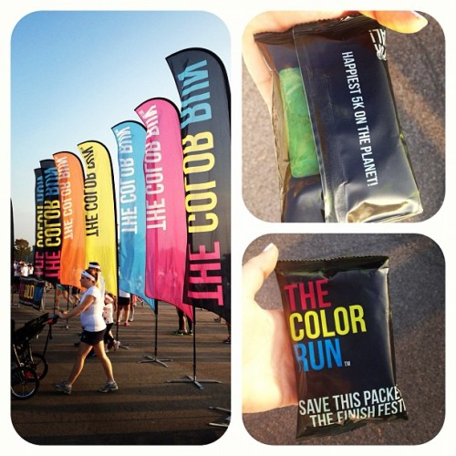 Bout to get my color run on! #colorrun #powder #5k #running #race #thecolorrun (Taken with Instagram at Liberty Bowl Memorial Stadium)