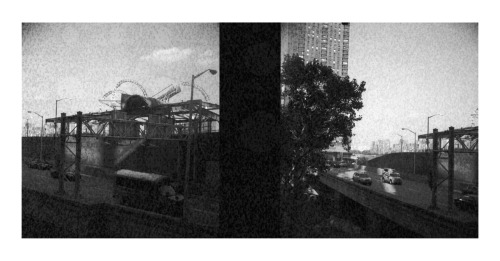 60th st Pavillion & FDR Drive N. Bound. NYC rolls are coming, slowly. Duplex Super 120 - Gp3100 Pan (2008 expired). The film isliterallydying.