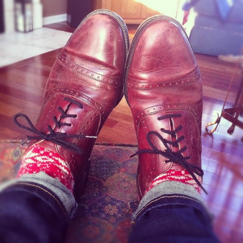 Vintage oxfords for a day at work