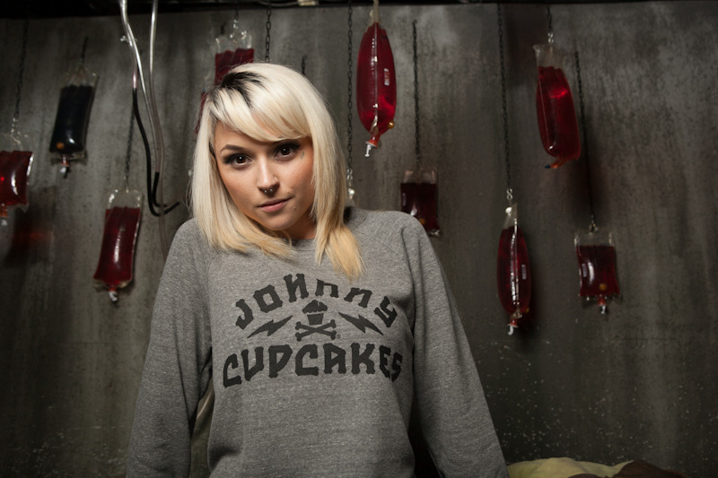 New crewneck sweatshirt available In the Johnny Cupcakes shop. Photo by Mike Dravis