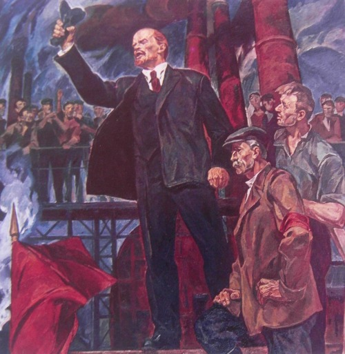 nobodycangiveyoufreedom:  Lenin and workers