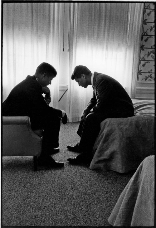 John and Robert Kennedy, Los Angeles 1960Phtoo by Hank Walker