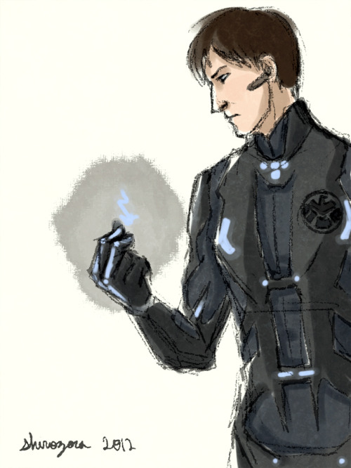 "shirozora:  … yeah, so that time I slapped a SHIELD emblem on Tron's Legacy!suit and called it a day. *facepalm*  Now with fic… Title: collide [come here, come on]Fandoms: TRON, Marvel Cinematic UniversePairing/Characters: Sam Flynn/Tron; Quorra, Kevin Flynn, Jessica Drew, Jimmy Woo, Beck, Tony Stark, Lora Baines, etc.Rating: TWord count: ~9,300A/N: what have I done  Sam frowns. ""What are you an agent for?"" ""Strategic Homeland Intervention, Enforcement, and Logistics Division."" He cocks an eyebrow. ""Now that's a mouthful. What, no acronym? Or is the full name supposed to put people off or bore them into changing the subject?"" The agent snorts into his cup. ""We occasionally call it S.H.I.E.L.D.""  collide [come here, come on] @ AO3"