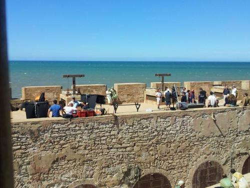 Production crews were spotted with filming beginning in Essaouira, Morocco today.
