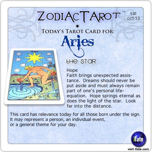 Click on ZodiacTarot! for all of today's zodiac tarot cards.Click here for a free tarot reading :)