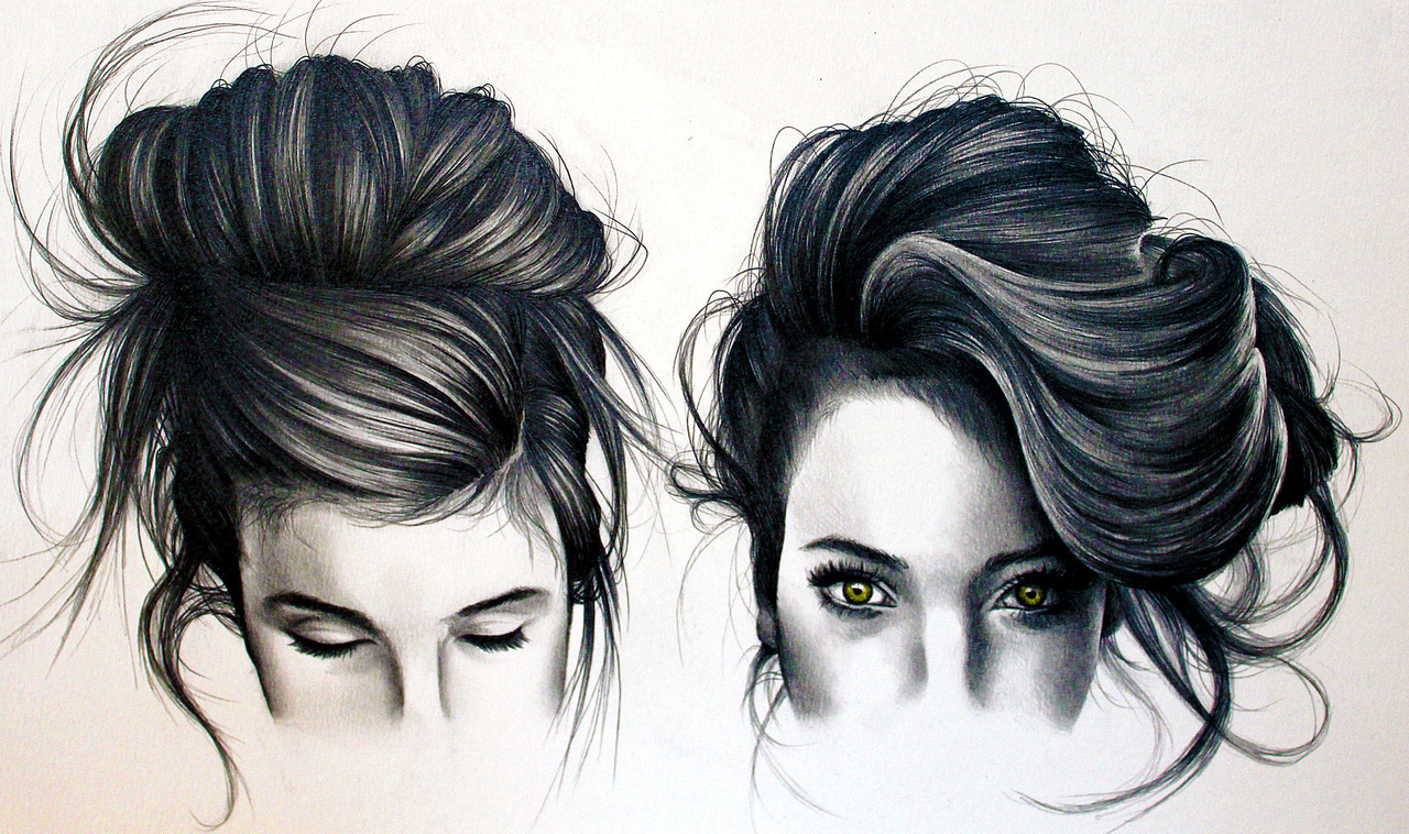 wryer:  Practising drawing hair… Click the high-res button to see it in full!