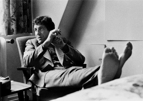 Leonard Cohen in 1974 Photo by Barrie Wentzell
