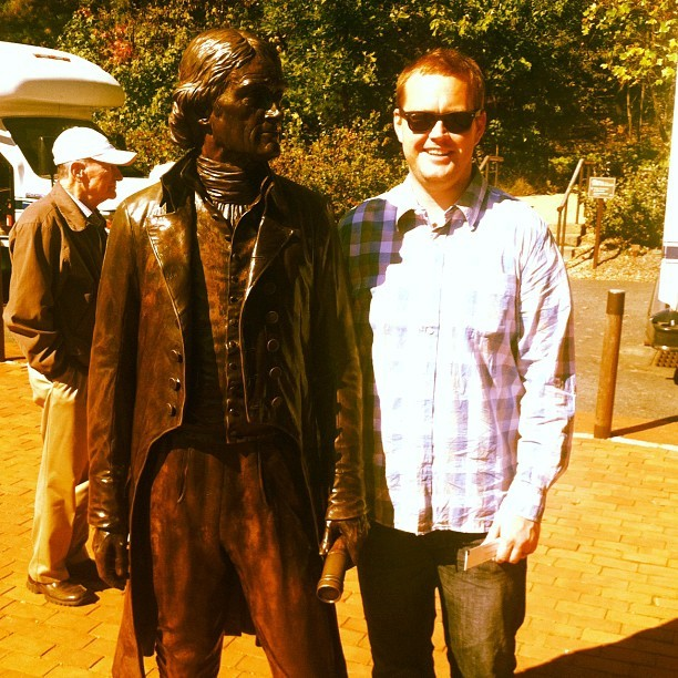 Me and Jefferson. Love this guy.  (Taken with Instagram)