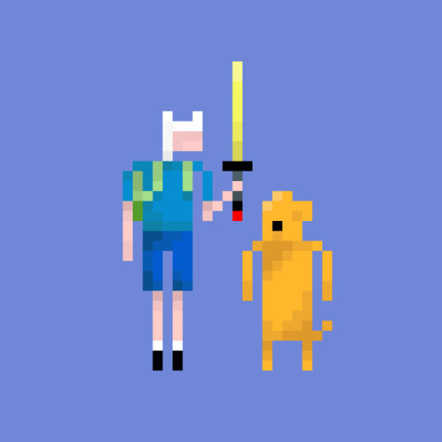 it8bit:  Adventure Time Created by Lovemi Prints available on Society6