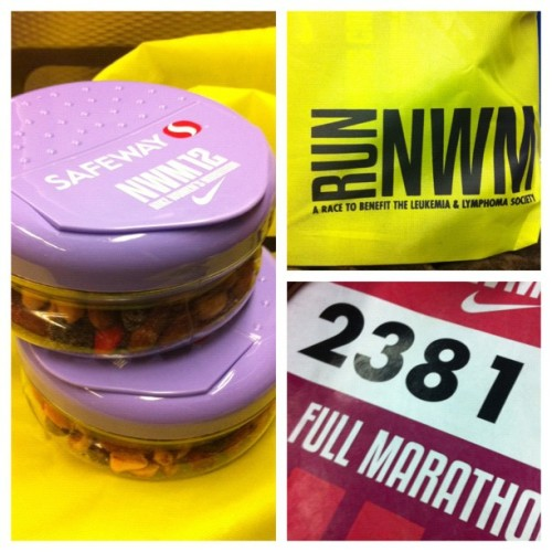 Just picked up my packet for the Nike women's marathon! Got the cutest snackboxes…I got in line twice for them. #running #nike #fitness #nwm #sanfrancisco #poormedstudent (Taken with Instagram)