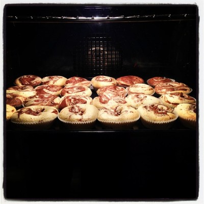 Nutella cupcakes. (Taken with Instagram)
