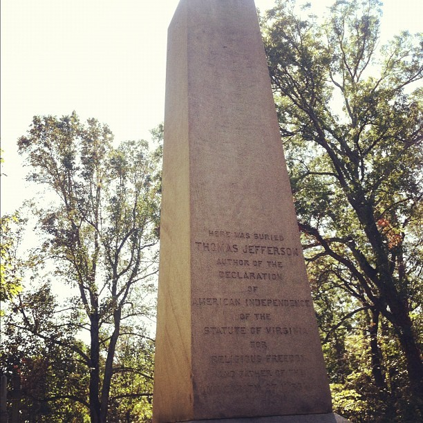 Jefferson's grave.  (Taken with Instagram)