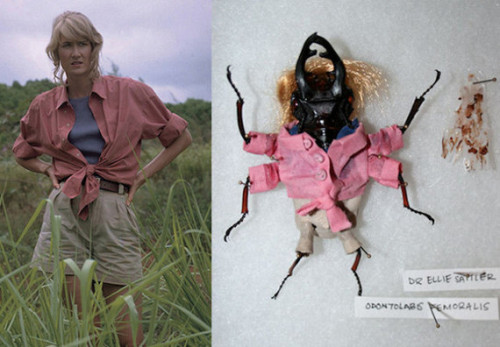 f-ckyeah1990s:  A beetle pretending to be Laura Dern from Jurassic Park.