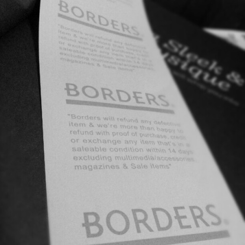 Found it in my book… i'm missing #Borders  (Taken with Instagram)