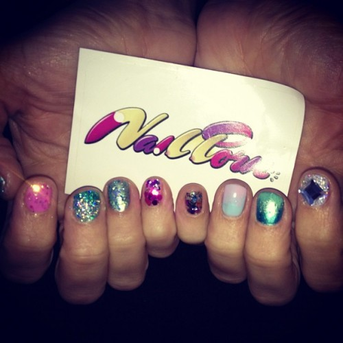 Mermaid Nailporn for @azealiabanks mermaid ball after party (Taken with Instagram)