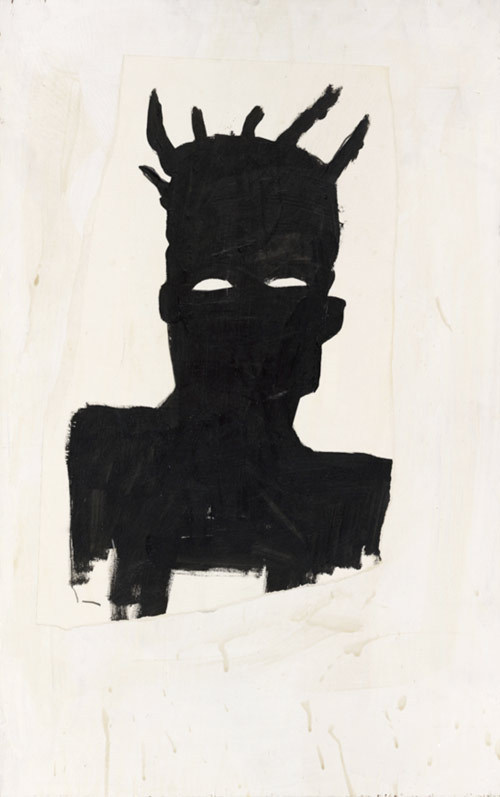 daisyparris:  Self Portrait (Plaid) 1983Jean-Michel Basquiat