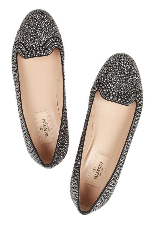 what-do-i-wear:  VALENTINO // Embellished suede loafers