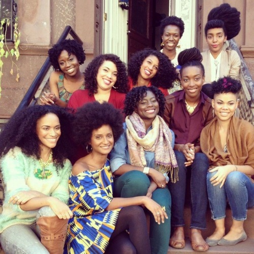 "afromatic:  I'm so in love with how versatile ""black"" hair is. Relaxing and weaves are NOT your only options, ladies. Team Go Natural!  ** Giving credit where credit is due: I ""stole"" this photo from Chescaleigh's Facebook page. Its from a shoot all these lovely ladies did for a Carol's Daughter campaign.**"