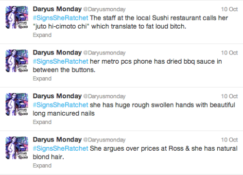 """Signs She's Ratchet"" by Daryus Monday (@Daryusmonday)"