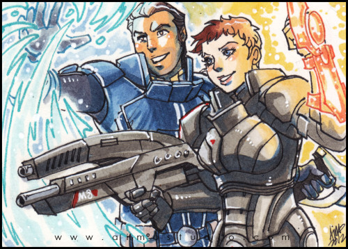 PSC - Custom!Shepard & Kaidan Commission info