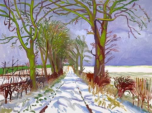 David Hockney Winter Tunnel with Snow, March