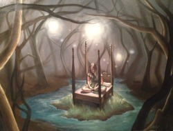 "laurashull:  A Place to Get Lost ""Imaginative Realism Project"" Painting II, Fall 2012"