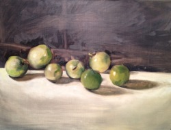 laurashull:  Green Tomatoes Alla Prima Painting II, Fall 2012
