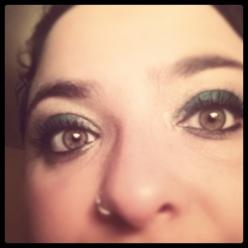 Playing with new makeup. (Taken with Instagram)