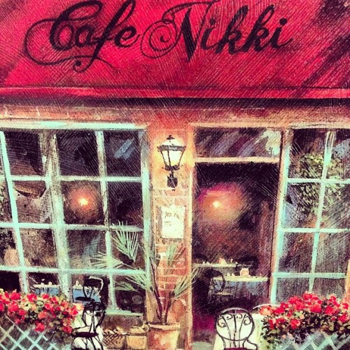 I love it when I find #canvases like these! :) #Cafe #Nikki en #Paris ! (Taken with Instagram)