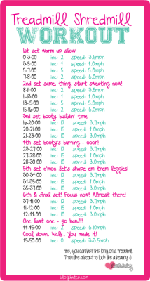 blogilates:  I did this yesterday! Give it a shot - you can adjust speeds as you feel necessary. Let me know if you do it!