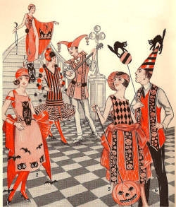 miss-flapper:  1920s Halloween Costume Illustration, Dennison's Bogie Book