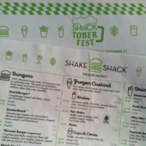 Ready to grub! (Taken with Instagram at Shake Shack)