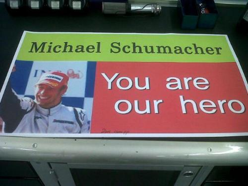 El mayor fan de Michael Schumacher. Enviado por Nin.