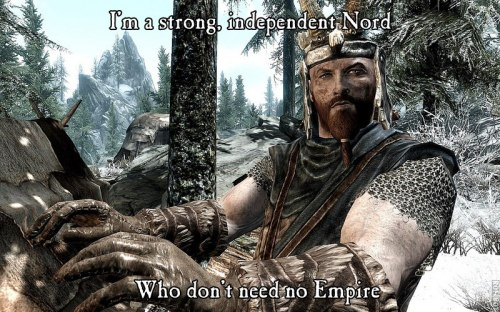 fuckyeahskyrimfanfic:  A true son of Skyrim.